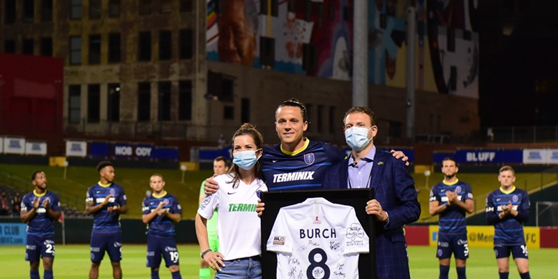 Captain Marc Burch announced his retirement at the end of the 2020 USL season.