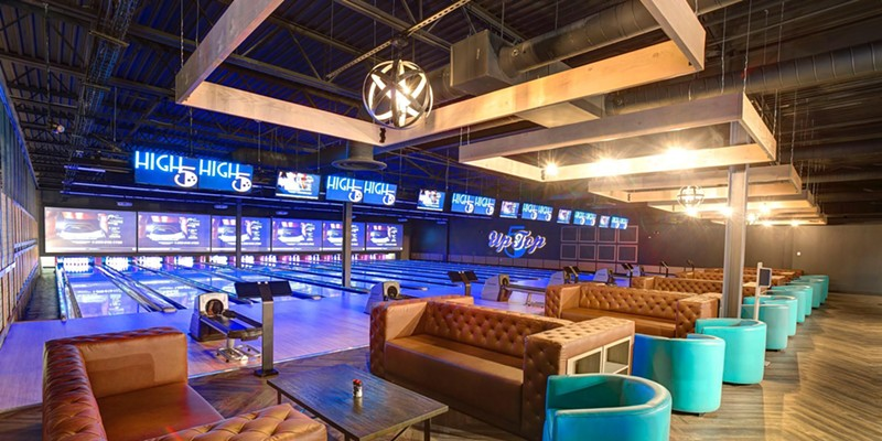 The new entertainment facility will feature bowling, golf, video games, and more.