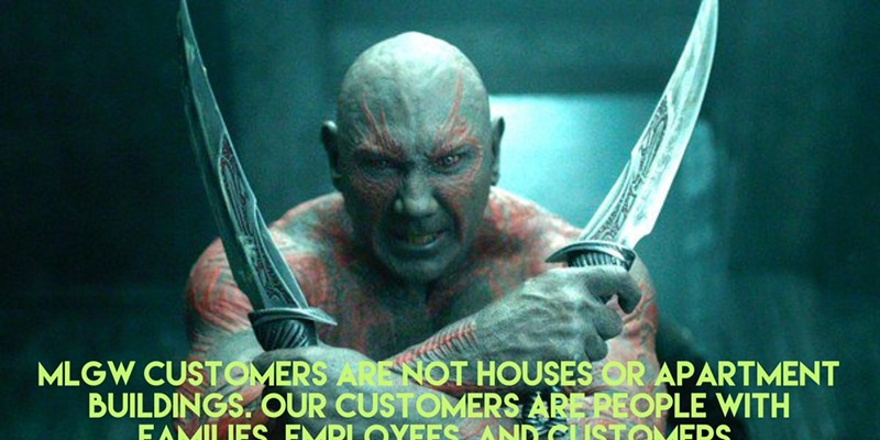 Drax the Destroyer Guest Tweets for MLGW?
