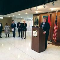 Mayor Jim Strickland announces pre-K plan.