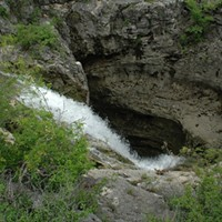 A massive sinkhole in the Edwards Aquifer.