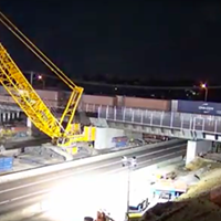 A screen grab from TDOT's MemFix 4 time lapse video.
