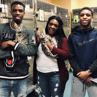 The 7,000th and 7,001st adoptions of 2018 were brother kittens who were adopted by the Miles family.