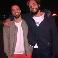 I ran into Chandler Parsons and Joakim Noah at Gibson's Donuts. I shamelessly gave them a copy of the Memphis Flyer with my photo(s) on the front.