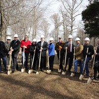 Breaking ground on the Reelfoot Lake interpretive visitor center in 2016.