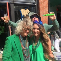 I ran into a lot of old friends, including Anna Condon, at the Silky Sullivan St. Patrick's Day Celebration