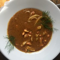 Crawfish bisque at Erling Jensen: The Restaurant.