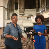 Shahida Jones (left), and Erica Perry (right) speak about the Mama's Day Bail Out campaign ahead of Mother's Day.