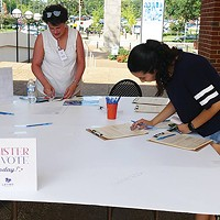 A voter registration event act University of Memphis last year