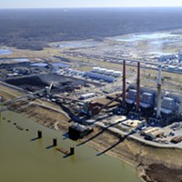 Aerial shots of TVA's Memphis power plants.