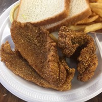 Fried catfish at Cozy Corner Restaurant