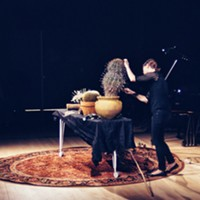 "Jenny Davis plays amplified cacti in John Cage's ""Child of Tree"" at the 2018 Continuum Fest"
