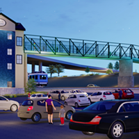 Pedestrian Bridge Planned to Connect Pinch District, Bass Pro Shops