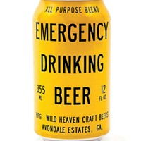 EMERGENCY DRINKING BEER. Why not?