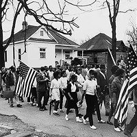 Participants in the civil rights march from Selma to Montgomery, Alabama, in 1965