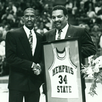 As players, Elliot Perry and Larry Finch combined to win eight games over Top-10 teams.