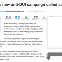 The New Tennessee DUI Campaign is Sexist and it's Okay for Journalists to Say So