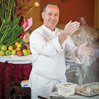 Making pasta with chef Michele D'Oto