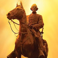 The Nathan Bedford Forrest statue in Health Sciences Park