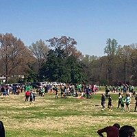 A play date event on the Greensward last weekend turned into a protest.