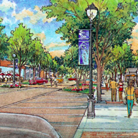 An artist's rendering of new streetscapes around the U of M.