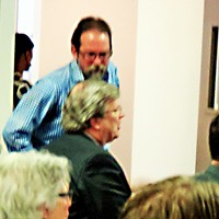 The Sierra Club 's Banbury and Mayor Strickland (seated) at recent Water Board hearing