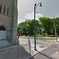 """This site next to Clayborn Temple will be the site of """"I Am A Man Plaza."""""""