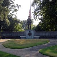 The statue at Spanish War Memorial Park in Midtown.