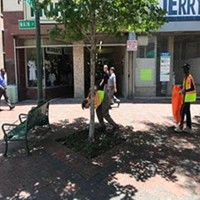 County Mayor's Team of Young People Help Clean Up City