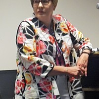 Election Administrator Linda Phillips at last week's briefing on Ranked Choice Voting