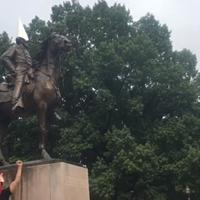 Someone hooded the Nathan Bedford Forrest statue and posted it all to Facebook