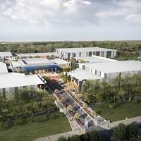 Rendering of original proposed event center