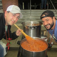 Tasting the goods at the Exceptional Foundation of West Tennessee Chili Cook-Off