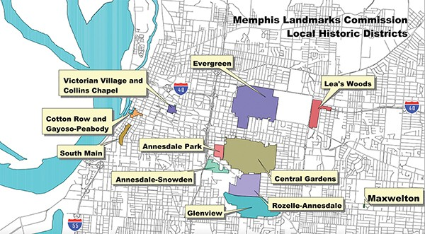 Historic districts in Memphis - SHELBY COUNTY GOVERNMENT