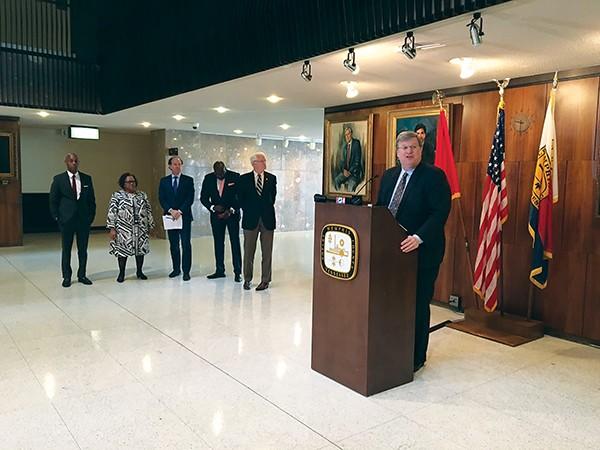 Mayor Jim Strickland announces pre-K plan. - MAYA SMITH