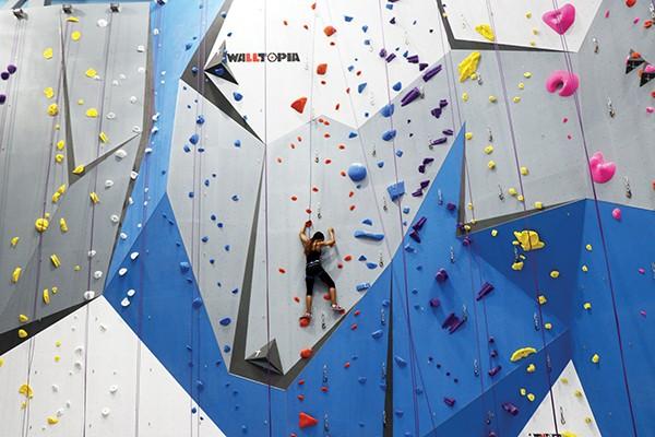 Memphis Rox has 45-foot walls. - MEMPHIS ROX