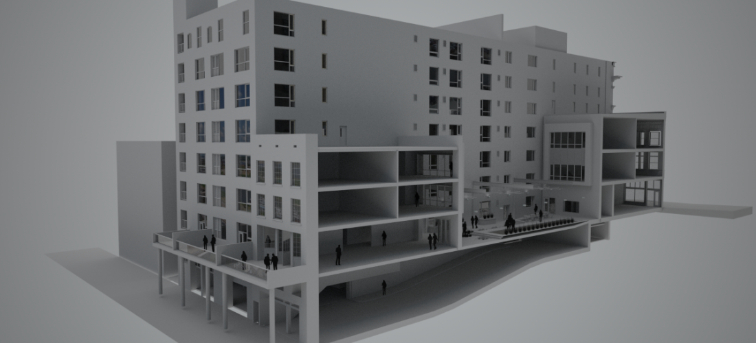 An artist's rendering shows what was planned for the Oliver Building reimagined as Icehouse99. - ROOTARCH