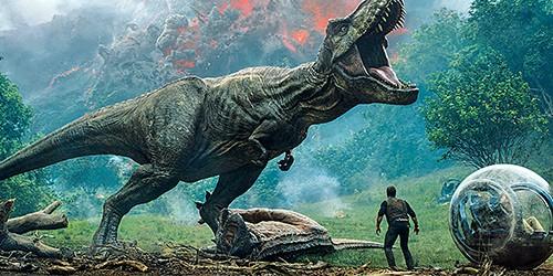 Chris Pratt faces off with dinosaurs in Jurassic World: Fallen Kingdom.