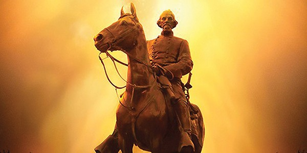 The now-gone statue of Nathan Bedford Forest. - JUSTIN FOX BURKS