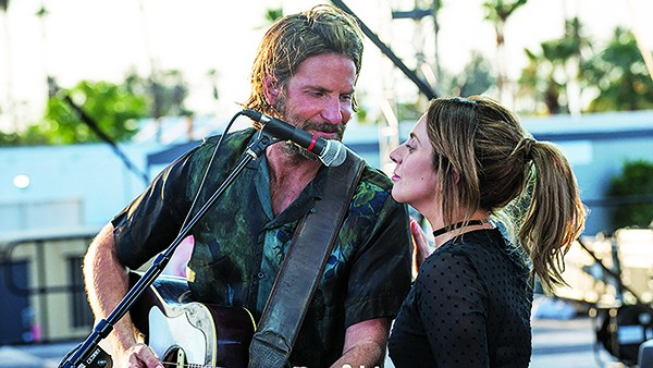 Bradley Cooper (left) and Lady Gaga shine in the Cooper-directed remake of A Star Is Born.