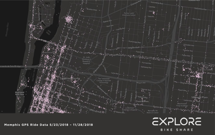 North end of Downtown - EXPLORE BIKE SHARE