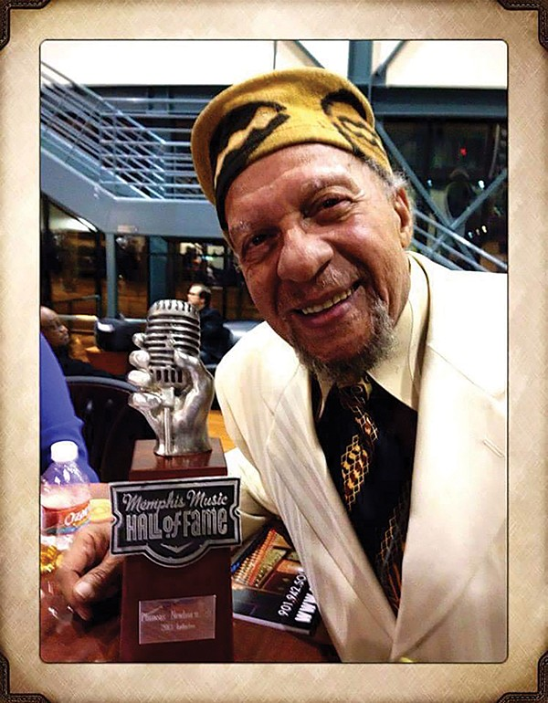 Calvin Newborn at the Memphis Music Hall of Fame induction of his brother Phineas. - PHOTO COURTESY OF JADENE KING