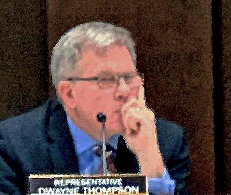 Dwayne Thompson musing during block grant hearing - JB