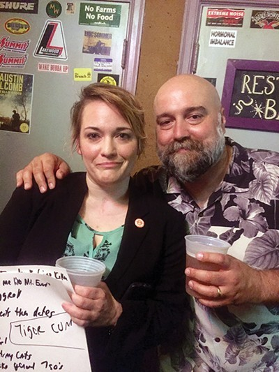 Amanda Walker and Craig Brewer in the bar that inspired Brewer's The Poor & Hungry