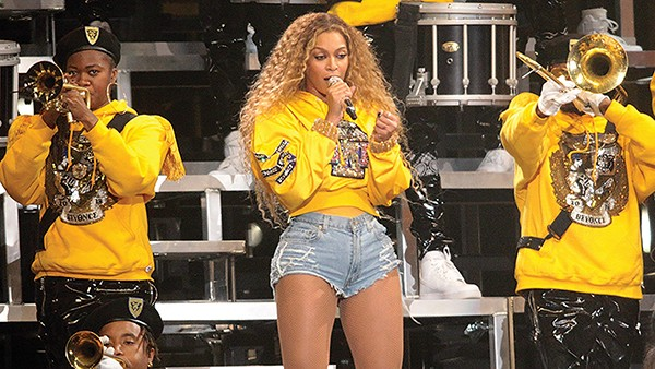 Homecoming shows Beyoncé headlining Coachella music festival.