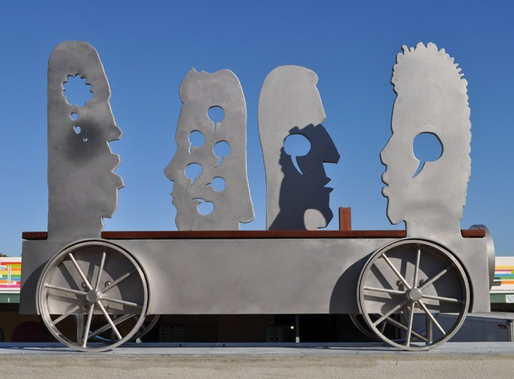 An art installation on Broad Avenue - URBANART COMMISSION