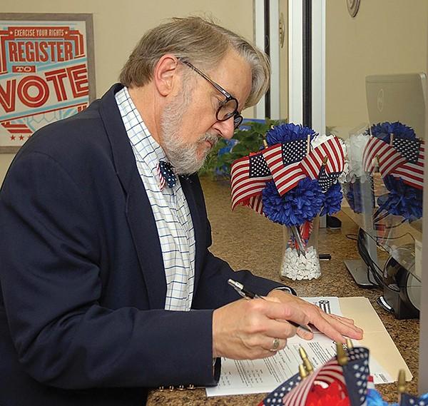 Dr. Jeff Warren at - Election Commission - JACKSON BAKER