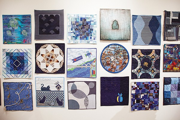 "From the Stitched exhibition of  ""BLUE"" - AVERELL MONDIE"