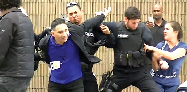 Duran arrested during a protest. - FACEBOOK