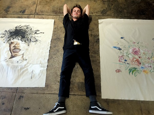 Cole O'Keeffe (above) paints what he feels. - MICHAEL DONAHUE